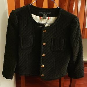 Marc Jacobs size 12 Black Velvet Jacket